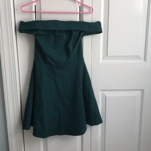 lulus off the shoulder homecoming dress